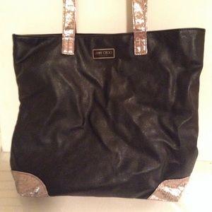JIMMY CHOO - black and gold tote bag